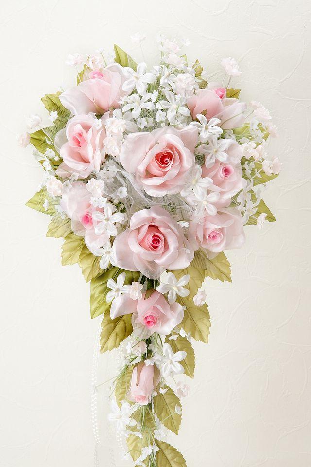 【ウェディングブーケ手作りキット】リトルプリンセスブーケキット(ピンク)