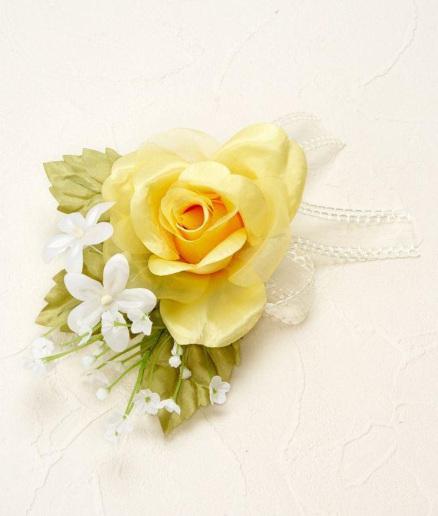 【ウェディングブーケ手作りキット】プリンセスローズコロニアルブーケキット(イエロー)