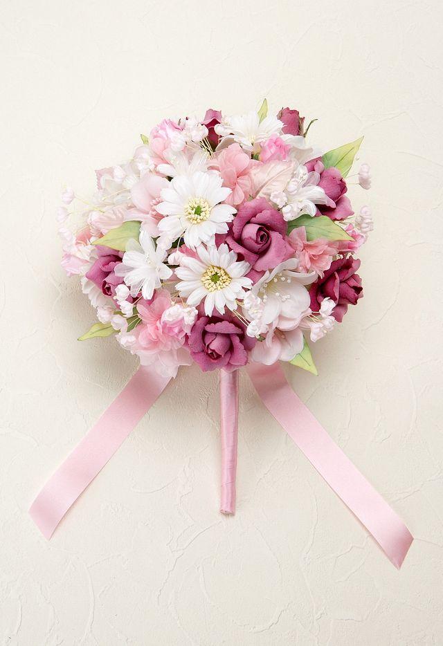 【ウェディングブーケ手作りキット】ハーモニーブーケキット(ピンク)