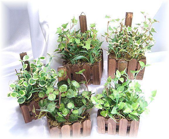 【造花 観葉植物】ボストンリーフ ・ウッドボックス