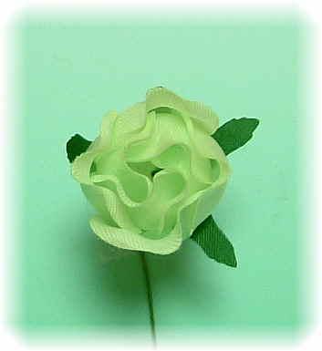 【アートフラワーパーツ】ミニバラ(グリーン)