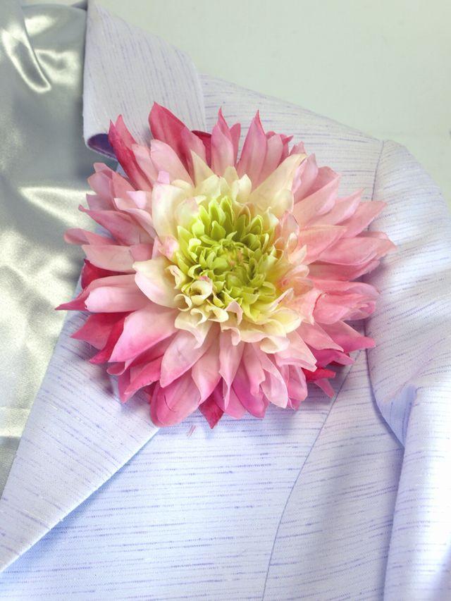 コサージュ&髪飾り(両用タイプ)(ラグジュアリーダリア/ライトピンクパープル)