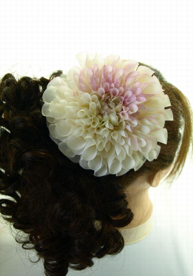 コサージュ&髪飾り(両用タイプ)(グレースダリア/ライトパープル)