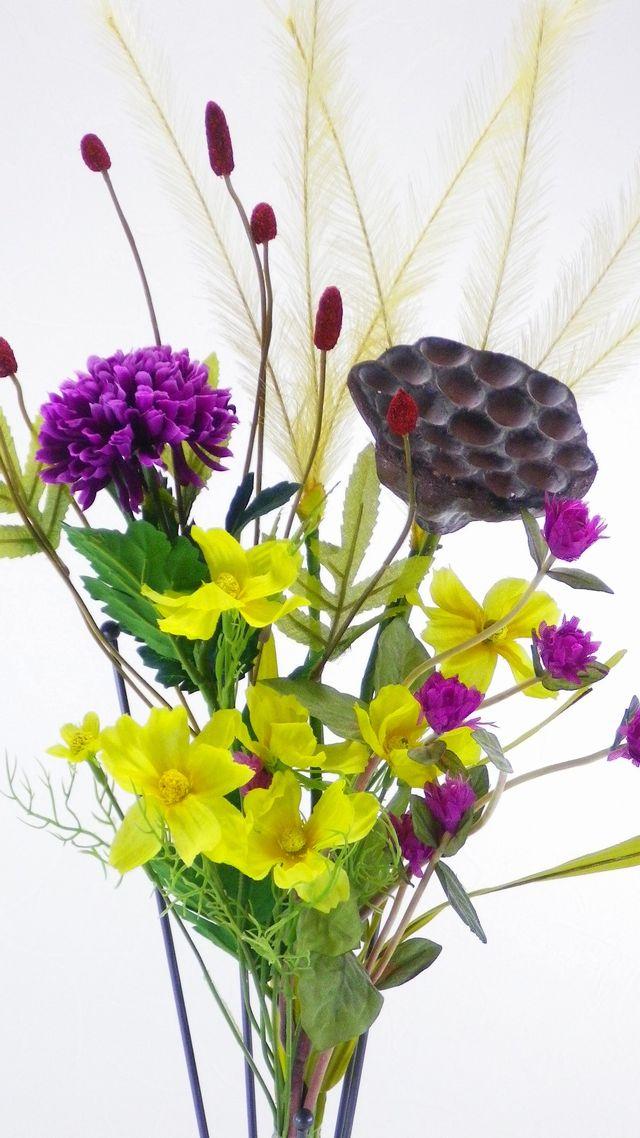 秋の造花仏花セットH(左右1対セット)