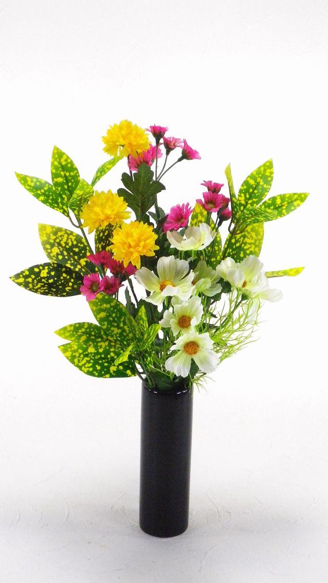 【造花用花器】ブラックスリムフラワーベースS/黒