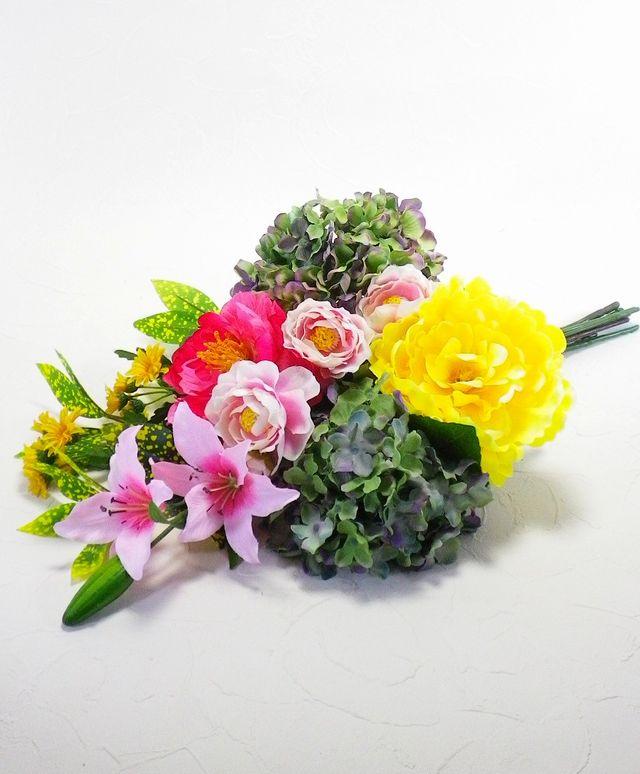 【造花 供花】シンプルミックス仏花I-1束