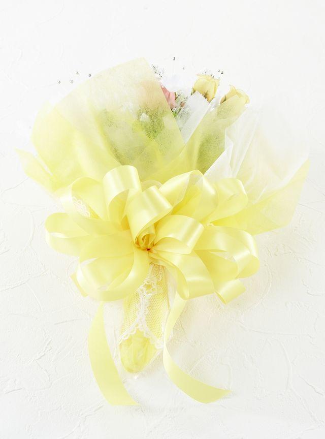 ミニローズ・シャイニングシャワーブーケ/オレンジイエロー系