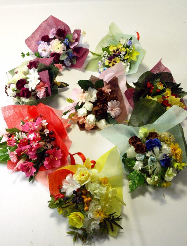 【造花ミニ花束】手のひらブーケ