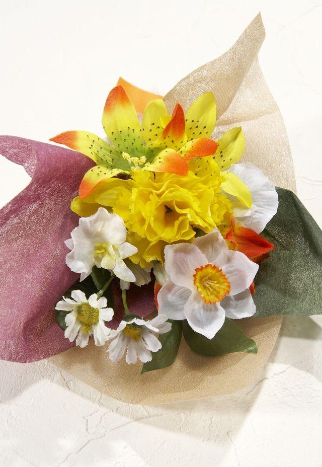 【造花ミニ花束】手のひらブーケR