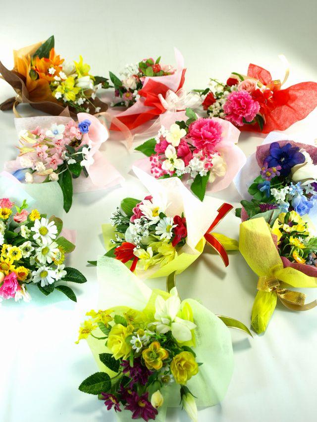 【造花ミニ花束】手のひらブーケ23