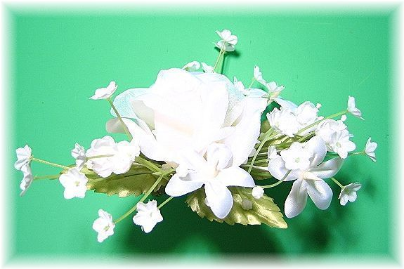 プリンセスローズのヘッドドレス(ホワイト)