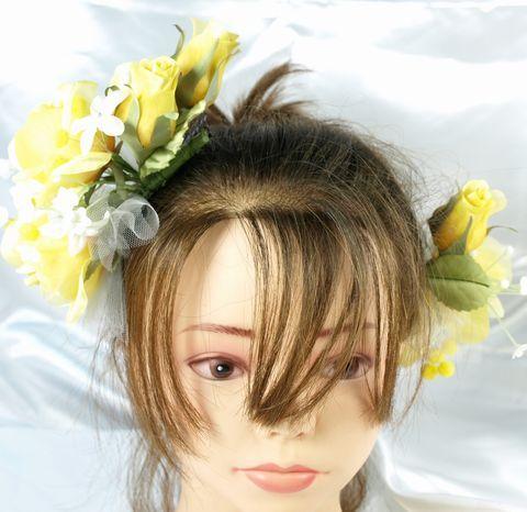 プリンセスのヘッドドレスキット(イエロー)(2点セット)