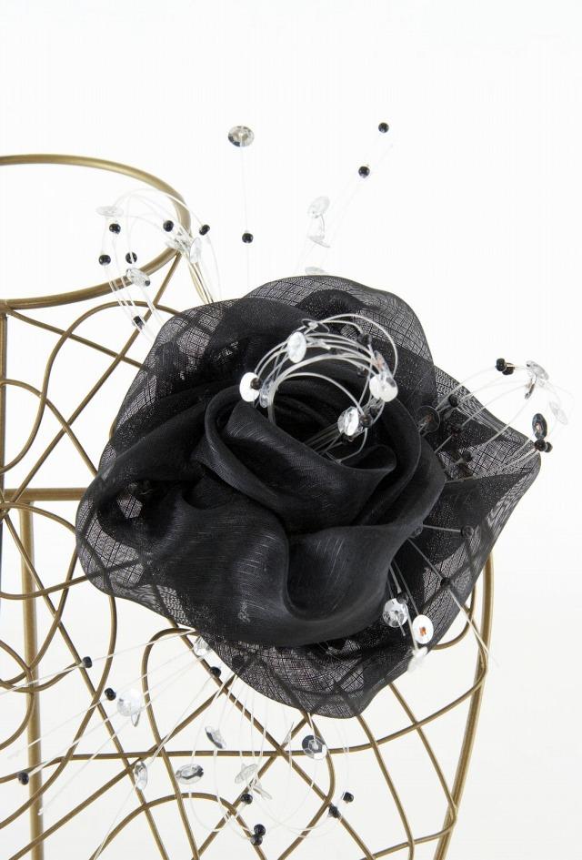 【10周年記念特別SALE価格】フォーマルコサージュD-ブラック