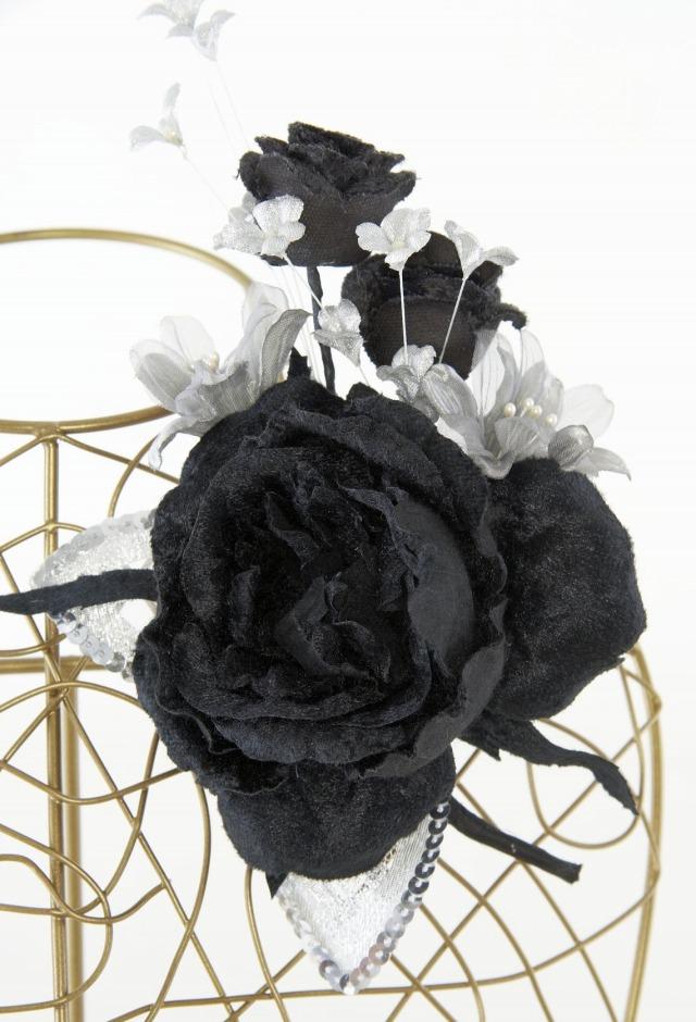 【10周年記念特別SALE価格】フォーマルコサージュM-ブラック