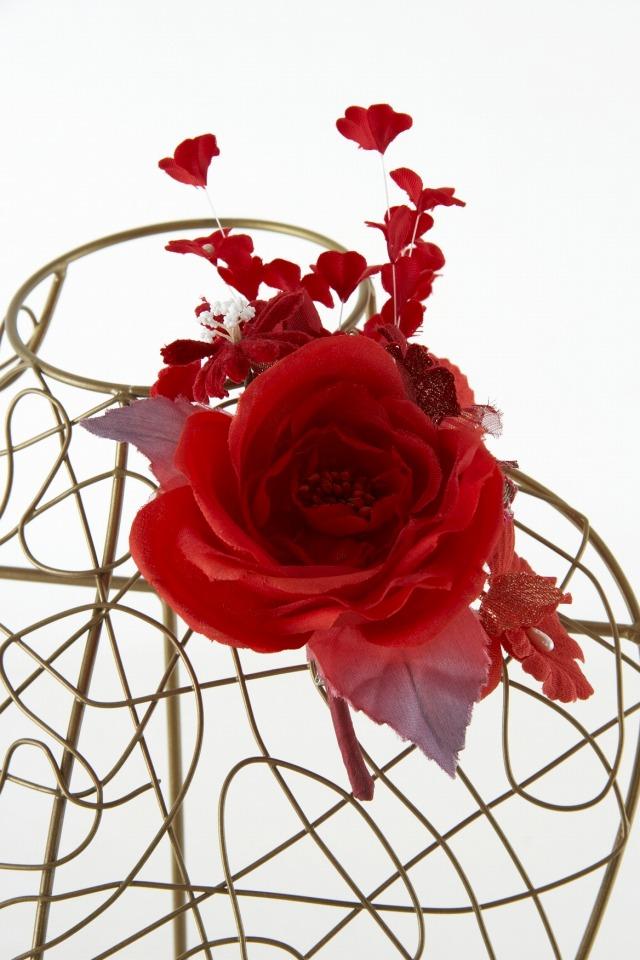 【10周年記念特別SALE価格】フォーマルコサージュS-レッド