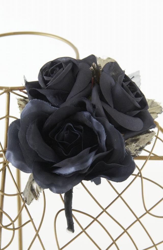 【10周年記念特別SALE価格】フォーマルコサージュZ-ダークブルー×ブラック
