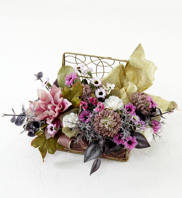 【造花アレンジメント・ワイヤースクエア】クワドラード