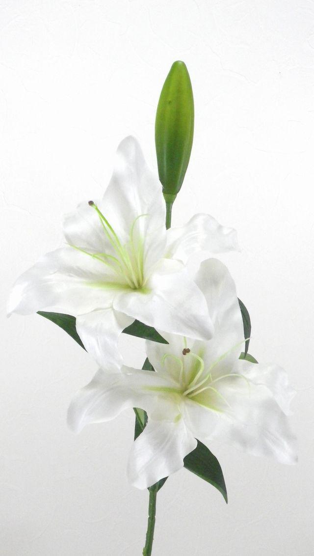 【造花・アートフラワー】カサブランカ・ホワイト
