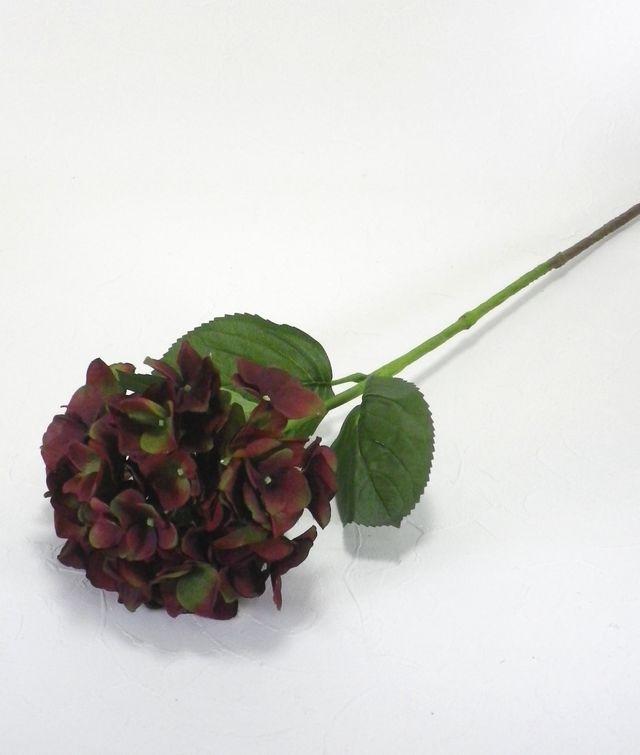 【造花・アートフラワー】紫陽花(バーガンディー)